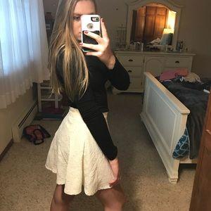 White lace skater skirt